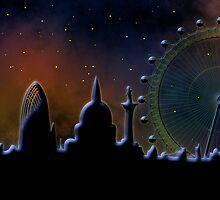 London at night by siloto