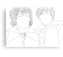 lord of the rings/lotr samwise and frodo illustration Metal Print