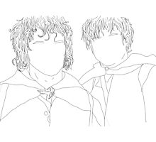 lord of the rings/lotr samwise and frodo illustration Photographic Print