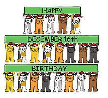 Cats celebrating birthdays on December 16th by KateTaylor