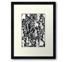 Gone in a splash, skull pattern Framed Print