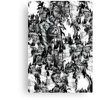 Gone in a splash, skull pattern Canvas Print