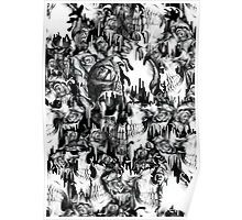 Gone in a splash, skull pattern Poster