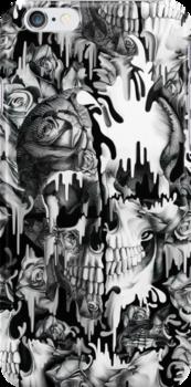 Gone in a splash, skull pattern by KristyPatterson