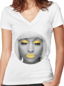 Yellow Nicki Women's Fitted V-Neck T-Shirt