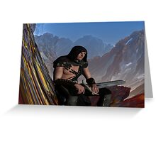 Lost Warrior Greeting Card