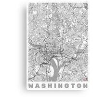 Washington Map Line Canvas Print