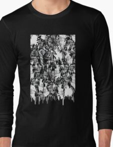 Gone in a splash, skull pattern Long Sleeve T-Shirt
