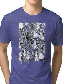 Gone in a splash, skull pattern Tri-blend T-Shirt