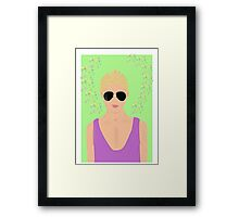blond guy Framed Print