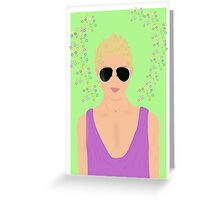 blond guy Greeting Card