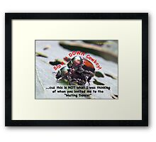 Invited to the Mating Dance Framed Print
