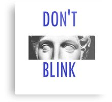 Doctor Who Weeping Angels DON'T BLINK!  Metal Print