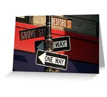 Corner of Grove and Bedford (Friends Building) NYC Greeting Card
