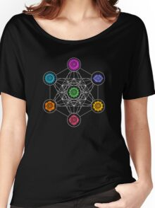 Metatrons Cube, Chakras - Cosmic Energy Centers Women's Relaxed Fit T-Shirt