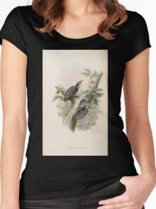 Birds of Asia John Gould 1883 V1 V7 410 Iyngipicus canicapillus Women's Fitted Scoop T-Shirt