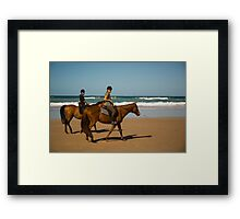 Sunday Gallop Framed Print