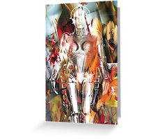 Ghost of a Robot Greeting Card