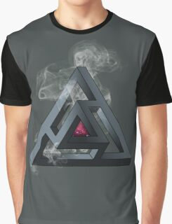 Abstract Geometry: The Portal (White Smoke) Graphic T-Shirt