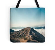 Mountains in the background XXII Tote Bag