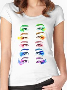 Red Velvet KPOP Eyes Watercolour Women's Fitted Scoop T-Shirt