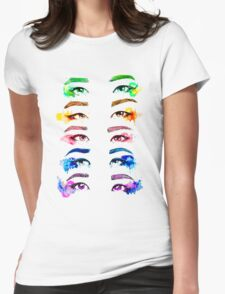 Red Velvet KPOP Eyes Watercolour Womens Fitted T-Shirt