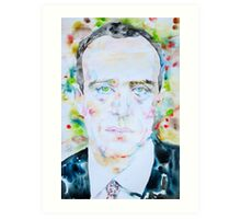 BORIS VIAN - watercolor portrait Art Print