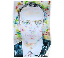 BORIS VIAN - watercolor portrait Poster