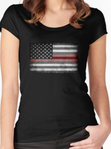The Thin Red Line - American Firefighter Women's Fitted Scoop T-Shirt
