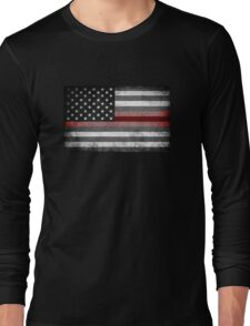 The Thin Red Line - American Firefighter Long Sleeve T-Shirt