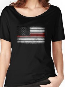 The Thin Red Line - American Firefighter Women's Relaxed Fit T-Shirt