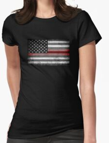 The Thin Red Line - American Firefighter Womens Fitted T-Shirt