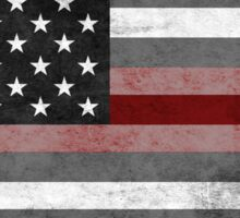 The Thin Red Line - American Firefighter Sticker