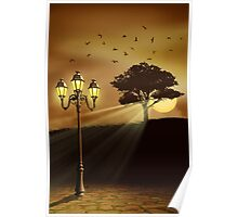 Lights In The Evening Poster