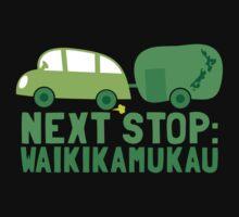 NEXT STOP: Waikikamukau funny fake Kiwi New Zealand travel destination One Piece - Long Sleeve
