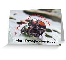 He proposes, and she wants lots of babies… Greeting Card