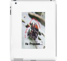 He proposes, and she wants lots of babies… iPad Case/Skin