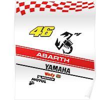 Yamaha M1 VR 46 Abarth Poster