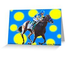 American Pharoah Triple Crown Colors Greeting Card