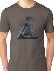 Abstract Geometry: The Portal (Black Smoke) Unisex T-Shirt