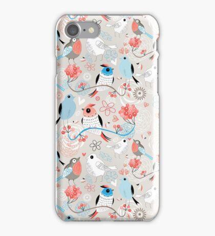 pattern love birds  iPhone Case/Skin