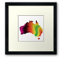 3d Australia Spectrum Framed Print