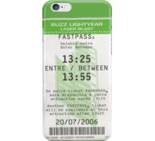 Buzz Lightyear Laser Blast Fastpass iPhone Case/Skin