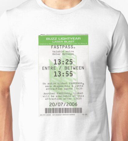 Buzz Lightyear Laser Blast Fastpass Unisex T-Shirt