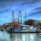 Shrimp Boats At Shem Creek by Kathy Baccari