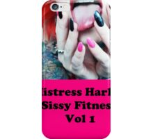 Mistress Harley Sissy Fitness DVD Cover iPhone Case/Skin