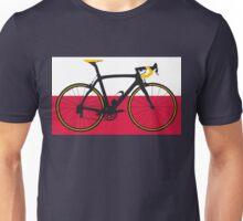 Bike Flag Poland (Big - Highlight) Unisex T-Shirt