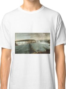 John Vanderlyn - A Distant View Of The Falls Of Niagara. Lake landscape: trees, river, land, forest, coast seaside, waves and beach, marine, lagoon sun and clouds, nautical panorama, lake Classic T-Shirt