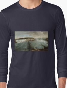 John Vanderlyn - A Distant View Of The Falls Of Niagara. Lake landscape: trees, river, land, forest, coast seaside, waves and beach, marine, lagoon sun and clouds, nautical panorama, lake Long Sleeve T-Shirt