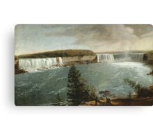 John Vanderlyn - A Distant View Of The Falls Of Niagara. Lake landscape: trees, river, land, forest, coast seaside, waves and beach, marine, lagoon sun and clouds, nautical panorama, lake Canvas Print